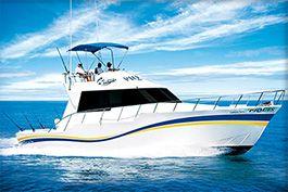 --Piquis--  Capacity: 17 persons. Length: 46 feet. Motors: 2 General Motors Detroit 400 HP. Speed: 18 knots.