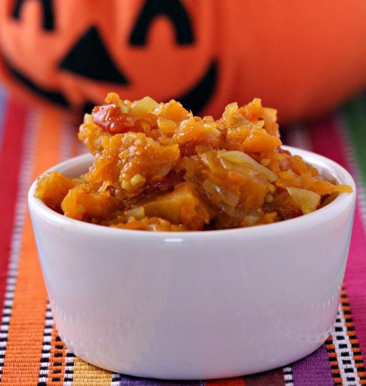 Purée de potiron aux épices (Halloween) - les meilleures recettes de cuisine d'Ôdélices
