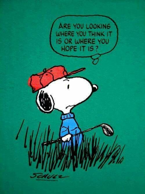 Snoopy playing golf