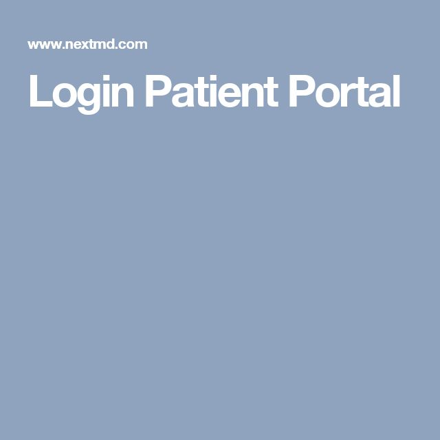 Login Patient Portal