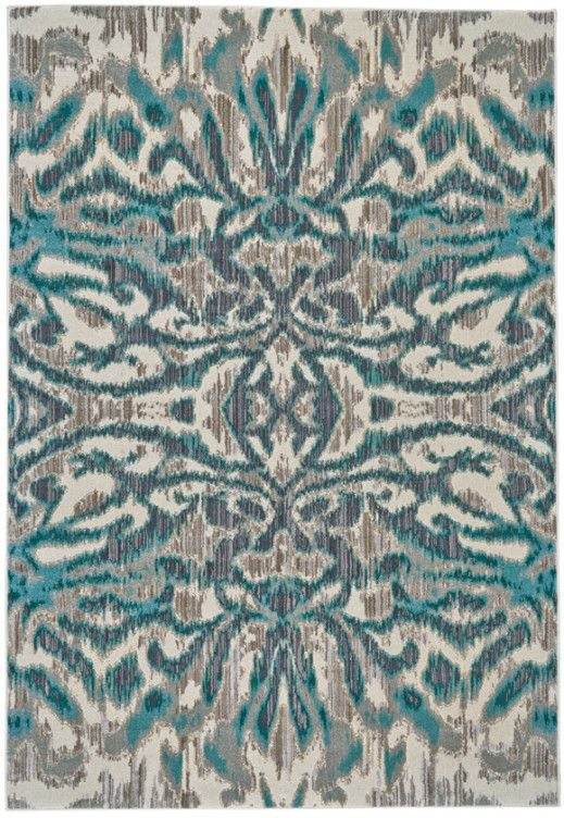 Rug For The Living Room. Love The Teal Accent!