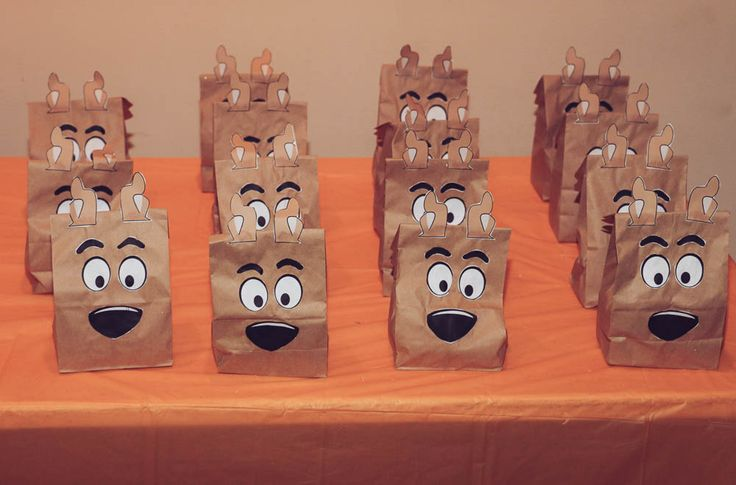 DIY Scooby Doo Birthday Party Party Favor Bags Printables