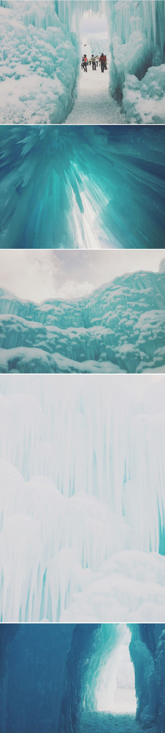Midway Ice Castles in Daylight | Sycamore Street Press