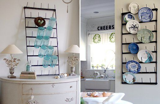 Wall Mounted Cup Holder   Cup Rack   Display Rack 75.00 from Decor Steals.  I love this - would suit my new apartment beautifully. Hmm, I may want three....E