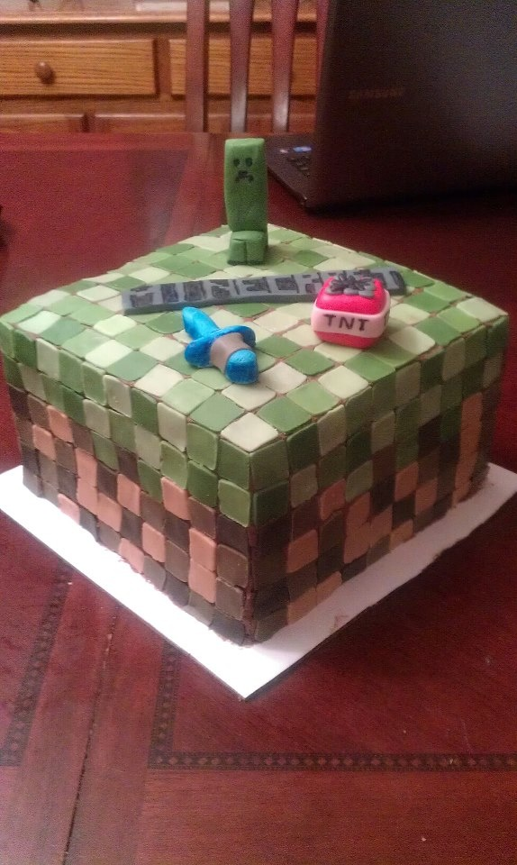 how to make a minecraft cake banner