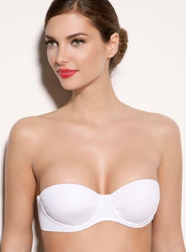 Martinique Multiway Bikini Top - White | Boux Avenue