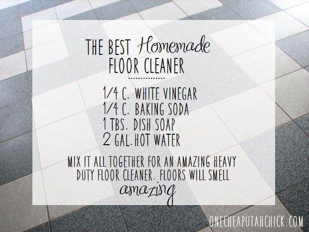 Homemade Floor Cleaner Recipe Best Kitchen Cleaner