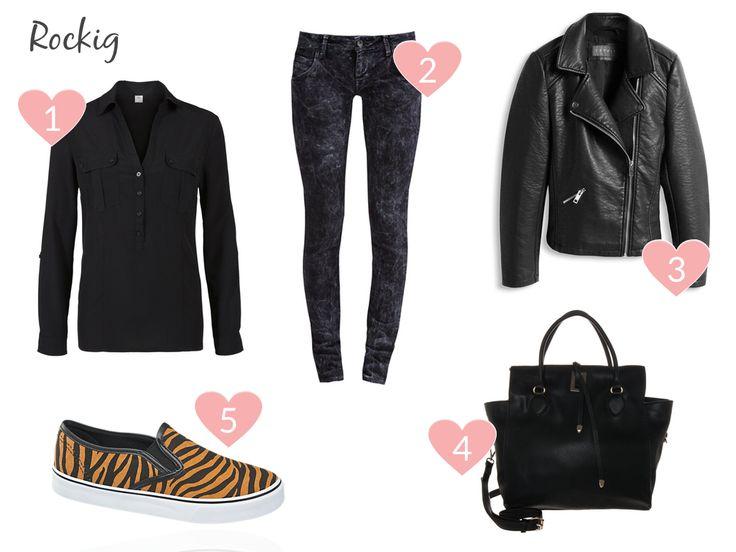 Frühlingsoutfits aus dem Winter-Sale: Rockige Outfits mit Lederjacke, Tiger Slipper und Mavi Jeans.
