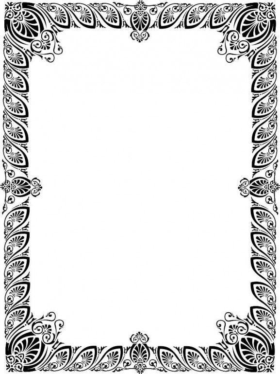 Line Art Corel : Best download file desain frame border berformat vector