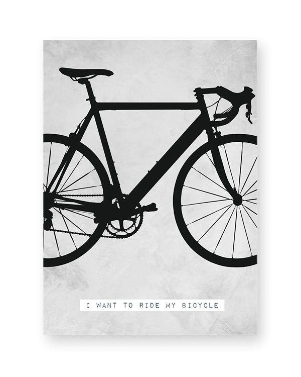 Racefiets Print - Poster met afbeelding Fiets - Zelf online Posters personaliseren bij Printcandy +++ Met eigen tekst, in zwart-wit of kleur