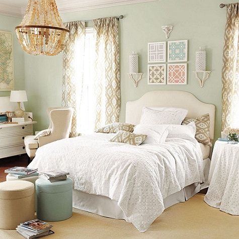 suzanne kasler eyelet bedding from ballard designs love those pillows and curtains too bedroom decorating ideascheap