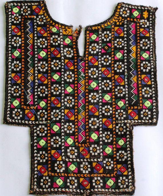 Banjara Vintage Hand Embroidery Neck Yoke by coloursofspirit