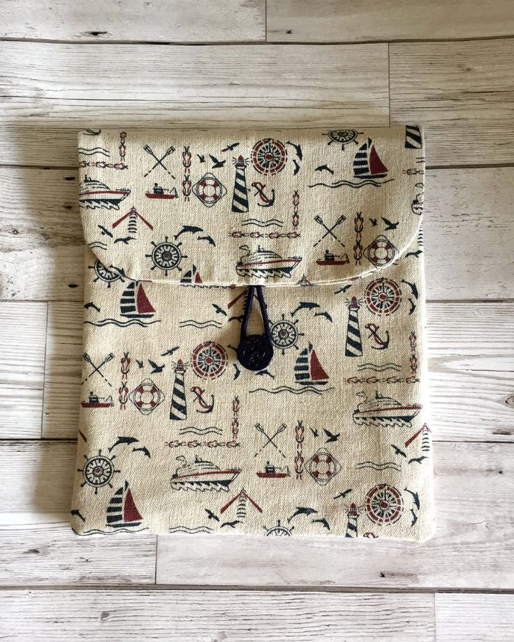 A personal favourite from my Etsy shop https://www.etsy.com/uk/listing/532178044/nautical-fabric-ipad-tablet-case-fabric