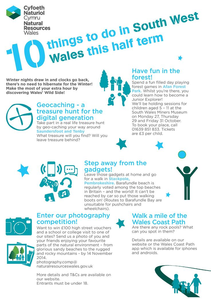 The 'Wales Wild Side' campaign aims to encourage people to get active in the great outdoors in order to improve health and wellbeing. When the clocks go back during the half term holidays, make sure your family make the most of the extra hour to get out, get active and discover Wales' wonderful 'wild side'! https://www.facebook.com/groups/WalesWildSide/710644089014581/?ref=notif&notif_t=like