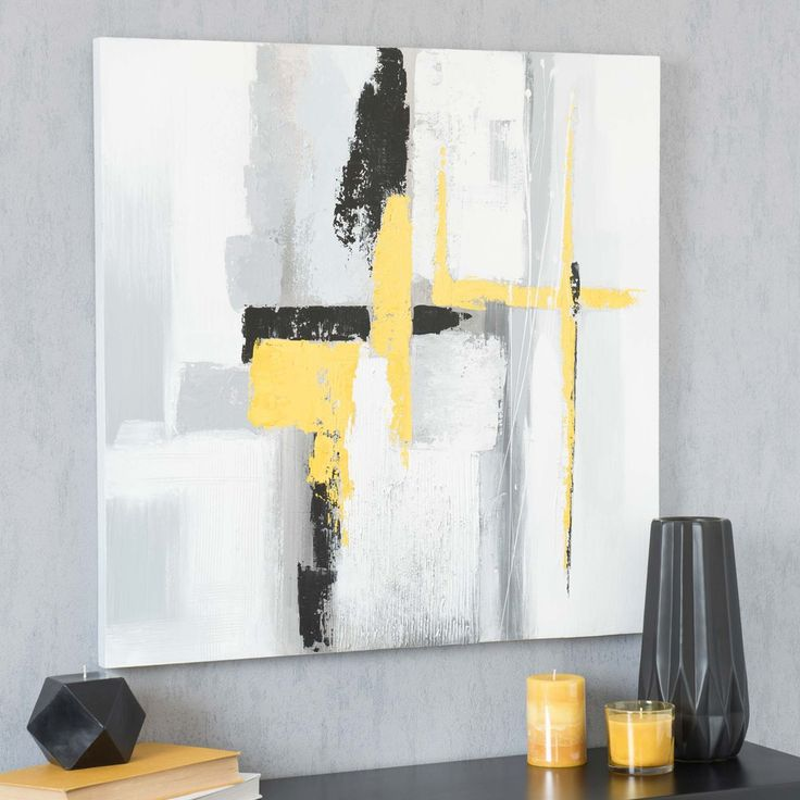 ABSTRACT YELLOW canvas, 70 x 70 cm