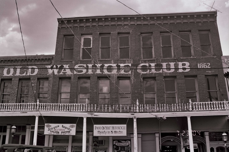 "Old Washoe Club, Virginia City, Nevada-Been there. I saw ""someone"" in one of the windows upstairs. Definitely has lots of ""residents"". I also saw a bartender that has not left. Kind of big scruffy guy."