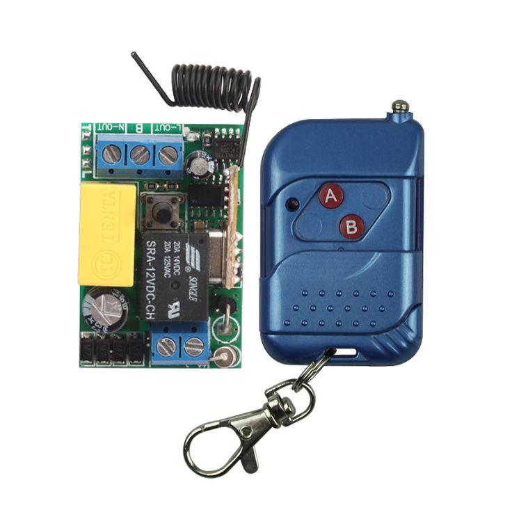 $8.41 (Buy here: https://alitems.com/g/1e8d114494ebda23ff8b16525dc3e8/?i=5&ulp=https%3A%2F%2Fwww.aliexpress.com%2Fitem%2FAC-220V-1-CH-Mini-Remote-Control-Switch-10A-Relay-Small-Receiver-Light-Lamp-LED-Bulb%2F32787914625.html ) AC 220V 1 CH Mini Remote Control Switch 10A Relay Small Receiver Light Lamp LED Bulb Wireless Remote Lighting Switch 315 433.92 for just $8.41