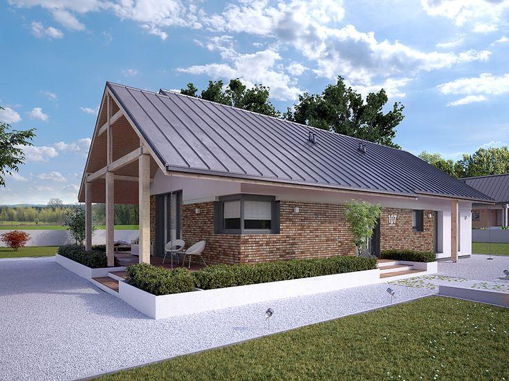 Parterowy, nowoczesny dom - Mahoń 3 (103 m2). Pełna prezentacja projektu dostępna jest na stronie: https://www.domywstylu.pl/projekt-domu-mahon_3.php #mahon #domywstylu #mtmstyl #projekty #projektygotowe #domynowoczesne #projekt parterowy #domparterowy #dom #domy #projekt #budowadomu #budujemydom #design #newdesign #moderndesign #home #houses