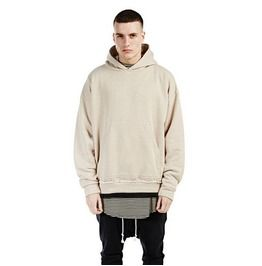 Men's Casual Beige Hoodies Oversized Pullover