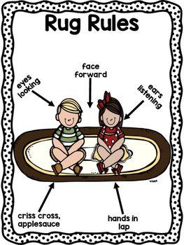 classroom rug clipart. rug rules featuring melonheadz classroom clipart