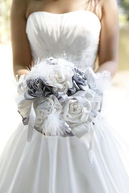 accessoire mariage fleur tissu. Black Bedroom Furniture Sets. Home Design Ideas