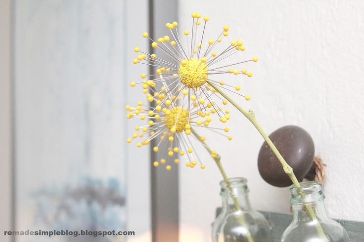 ReMadeSimple: Diy Spring Pincushion Flowers