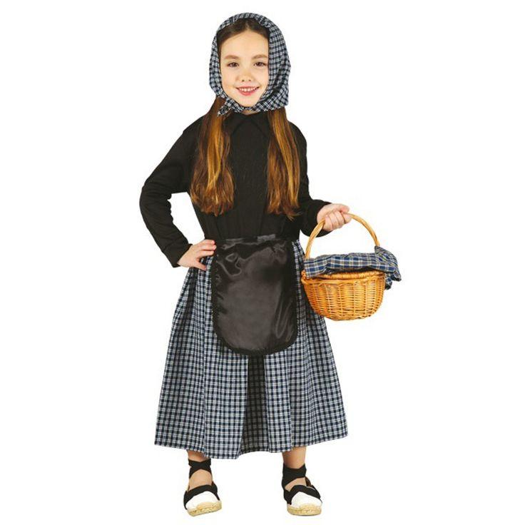 Disfraz de Castañera para niña #disfracesnavidad #disfracesnavideños