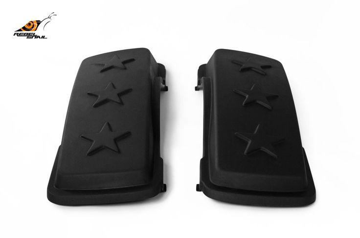 RS hard saddlebag lids army stars design for touring 1993-2013 Image