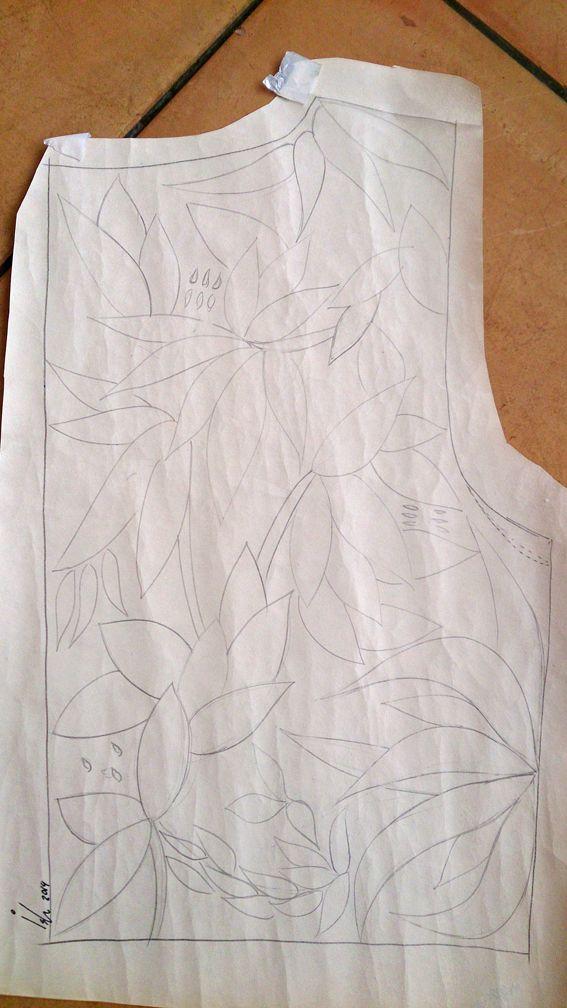 diseño de Dora para espalda bolero