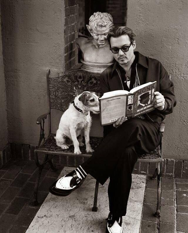 Johnny Depp and Friend, #BookLovers re-pinned by: http://sunnydaypublishing.com/books/: