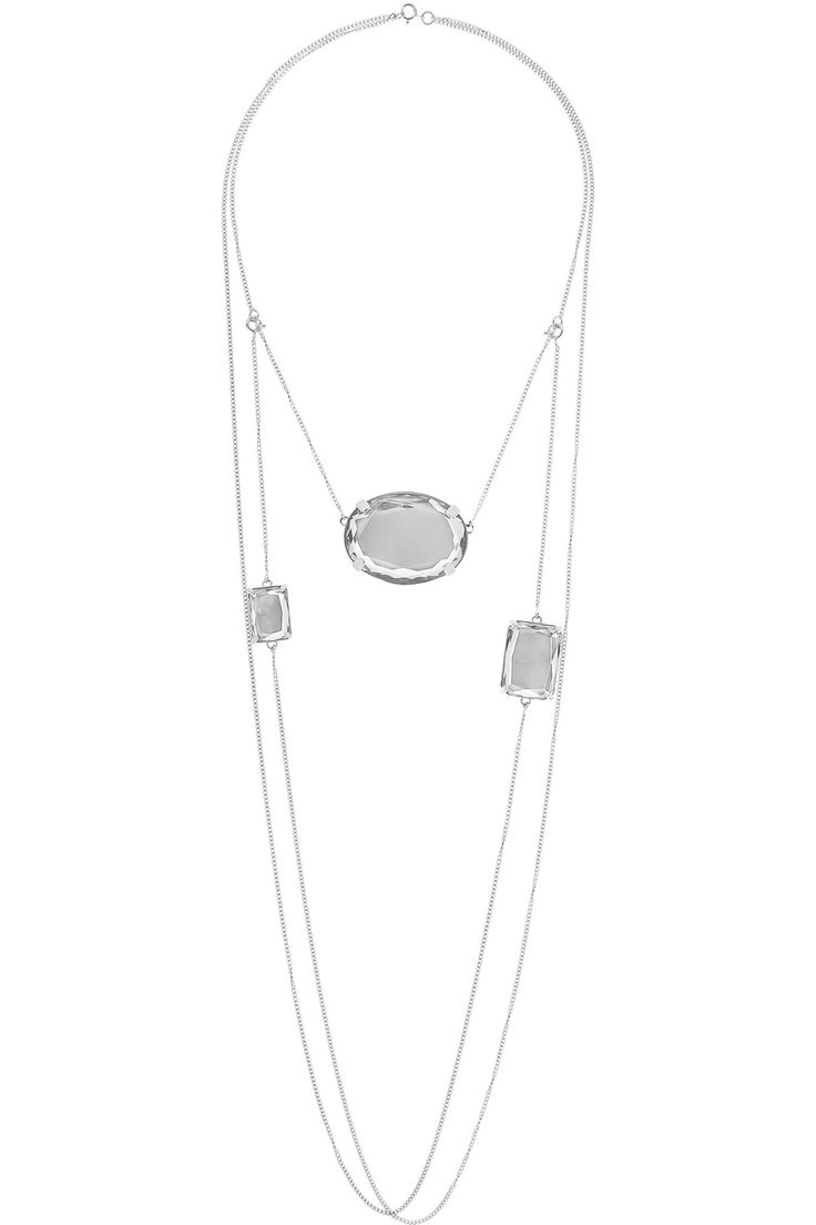 Convertible silver crystal necklace | MAISON MARGIELA | Sale up to 70% off | THE OUTNET