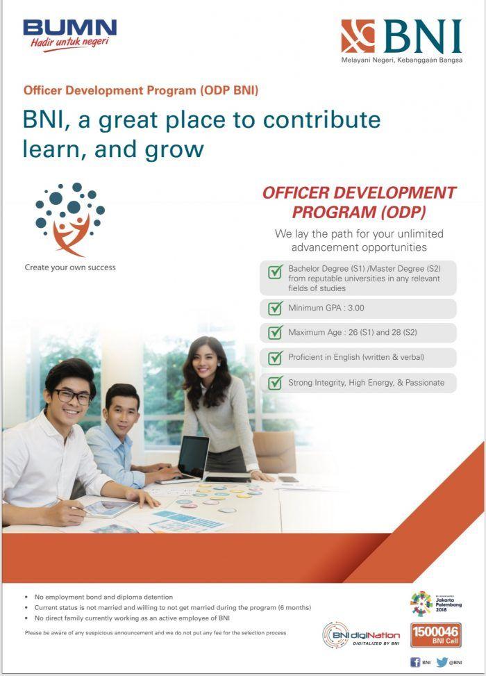 Lowongan Kerja ODP Bank BNI Oktober 2017