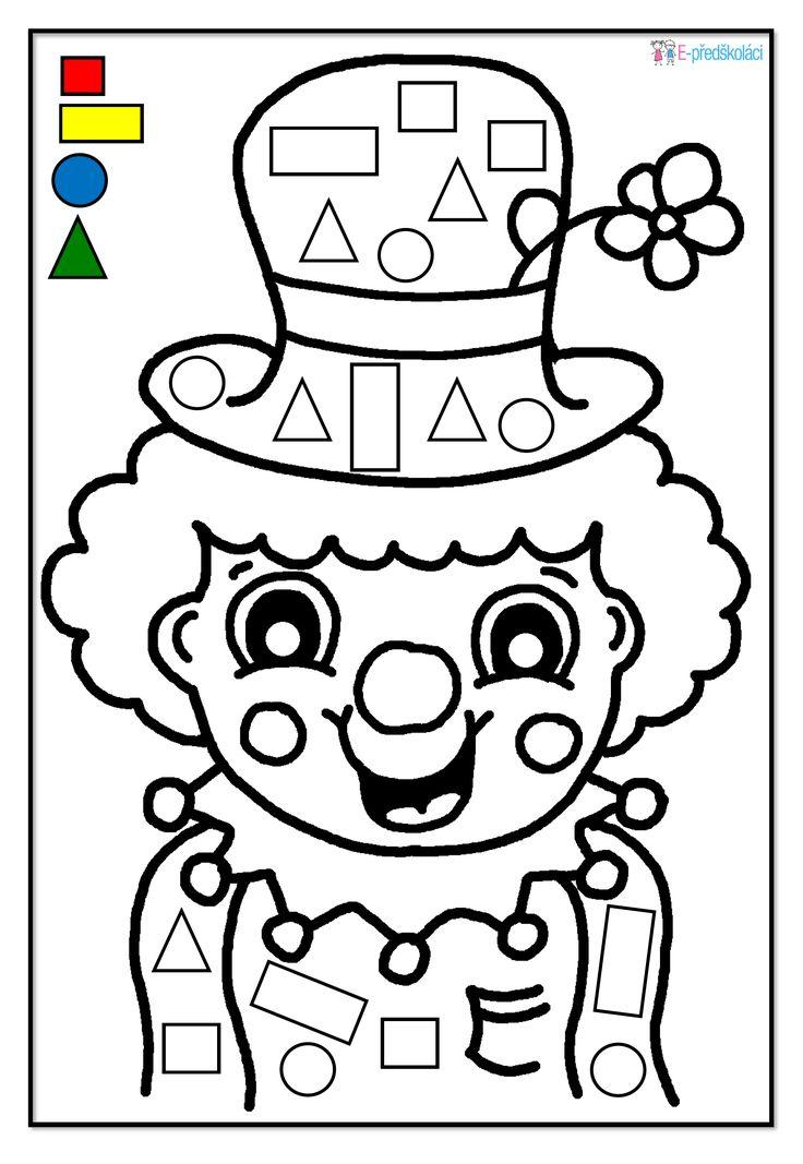 Pracovní list - karneval - geometrické tvary