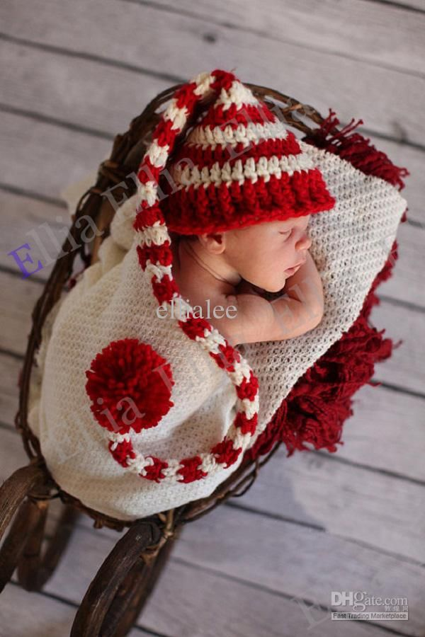Crochet Long Tail Elf Pixie Baby Hat Crochet Newborn Baby