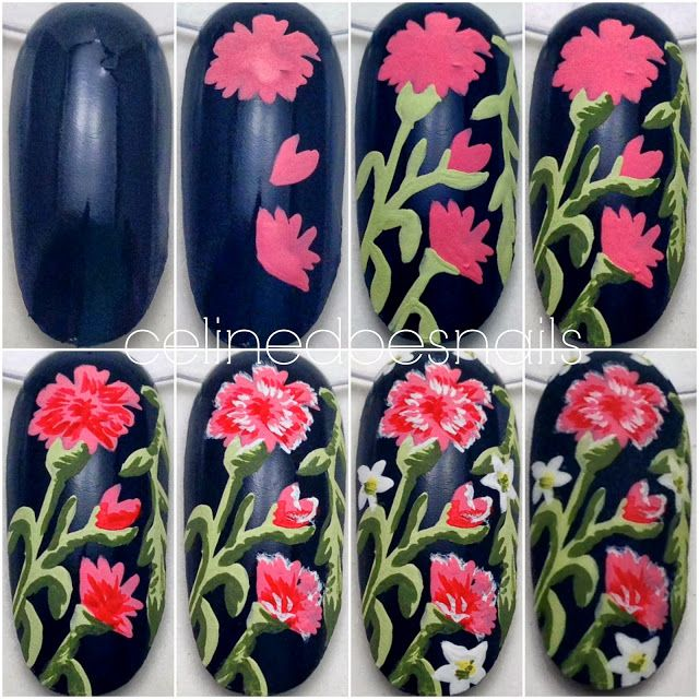 Nails By Celine: Floral Nail Art & Tutorial