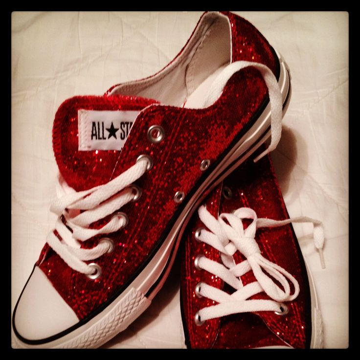 """There's no place like Home"" Ruby Red Slippers - Converses Chuck Taylor"