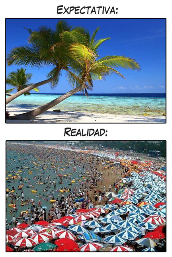 Expectativa vs Realidad: Vamos a la playa.