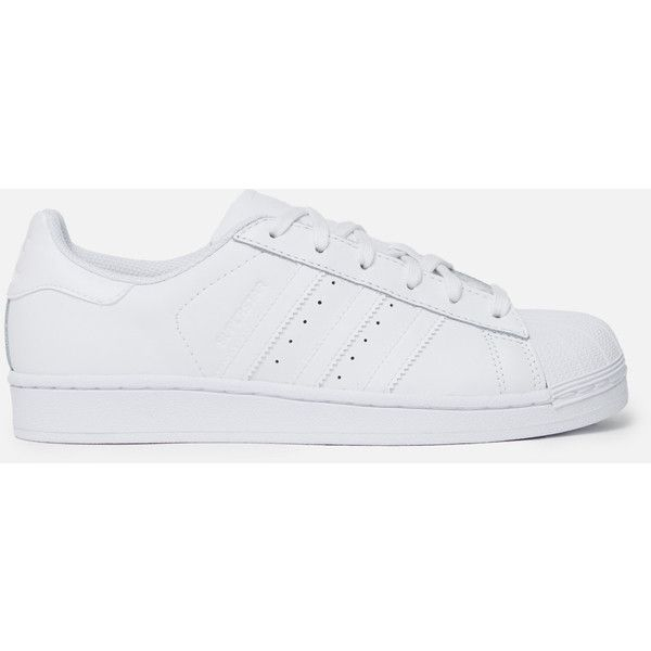 adidas Originals Superstar Foundation Sneakers ($80) ❤ liked on Polyvore featuring shoes, sneakers, lace up sneakers, adidas originals sneakers, hi tops, hi top tennis shoes and high top trainers