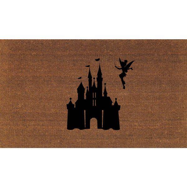 Disney Castle With Tinkerbell Door Mat Cinderella Coir Doormat Rug 2 X... (