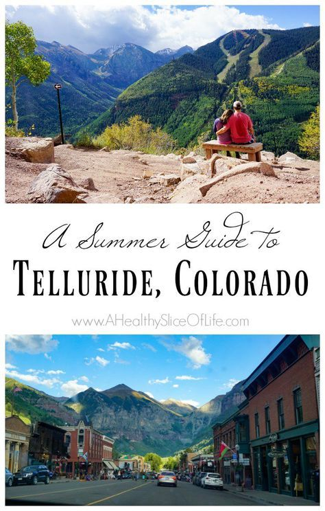 Telluride Colorado may be known for it's beautiful ski slopes, but don't miss the magic and beautiful views of summer in this historic mountain town.