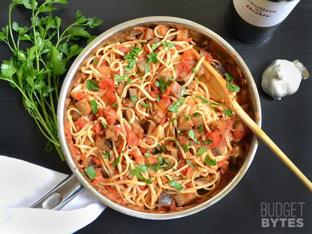 Pasta with Eggplant Sauce - Budget Bytes