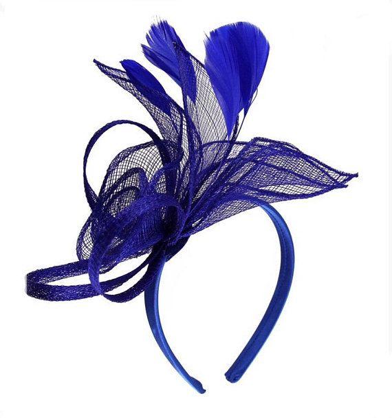 Blau Konigsblau Hellblau Kobaltblau Fascinator Hut Etsy Fascinator Ascot Derby