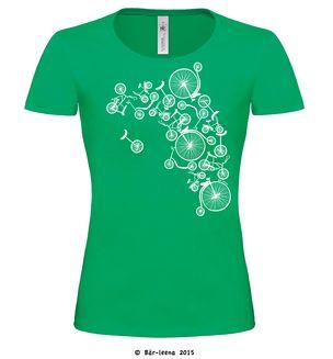 Fahrrad T-Shirt ·Fahrrad Turm T-Shirt für Frauen in Grün