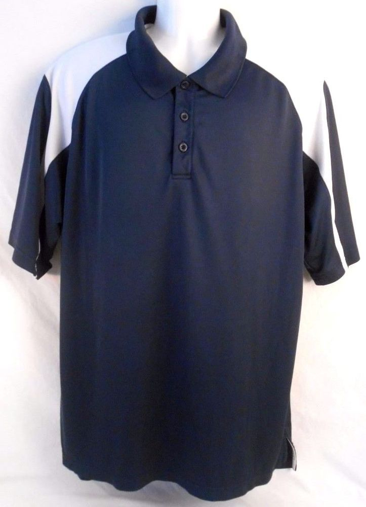 UNDER ARMOUR Mens Short Sleeve Shirt Size XL Blue White #UnderArmour #Shirt #mensshirt