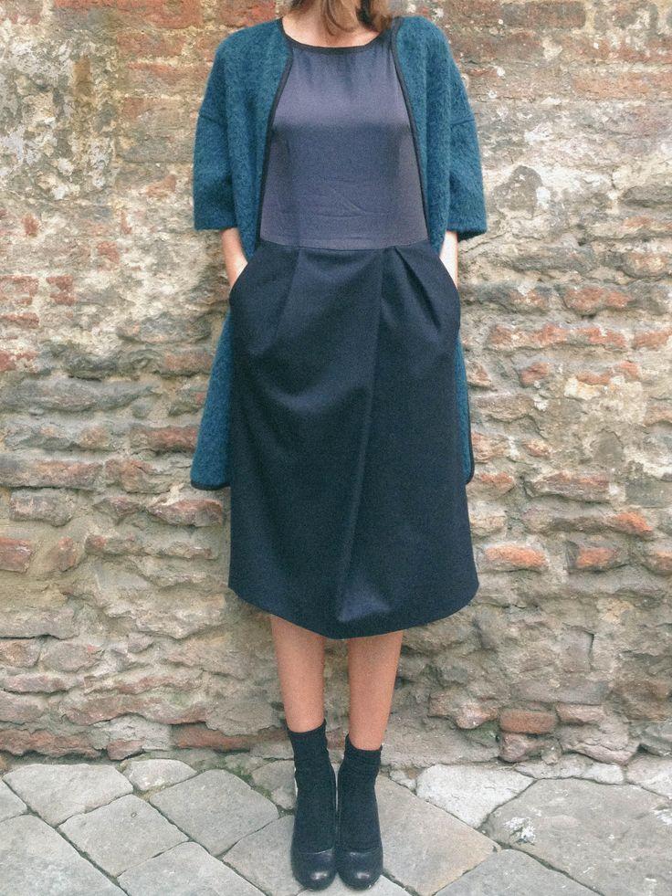Stylish mood #driesvannoten #aw13 #fw13 #fashion #designer #collection #blouse #shirt #dress #skirt #coat #jacket #skirt #pantskirts #grey #wool #beanie #stripes #womenswear #womenstyle #outfit #lookbook #ootd #stye #fashionoutfit #wishlist #dolcitrame #shop #shopping #boutique