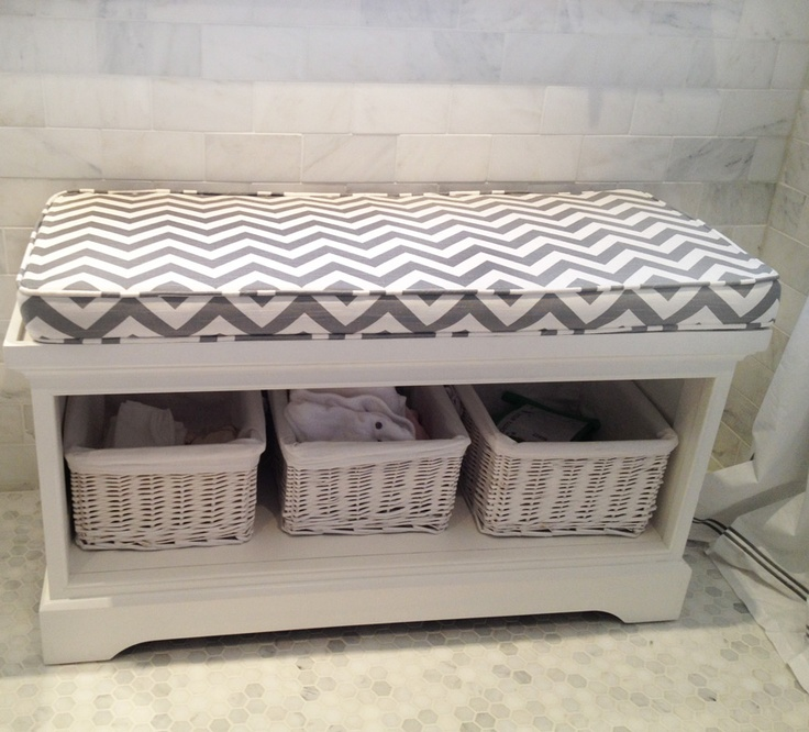 using Flatiron Grey fabric this bench is