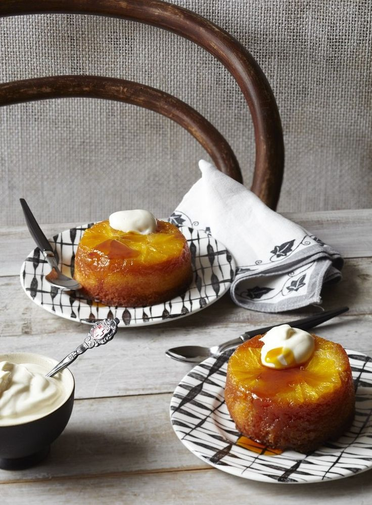 Orange and Golden Syrup Upside Down Puddings