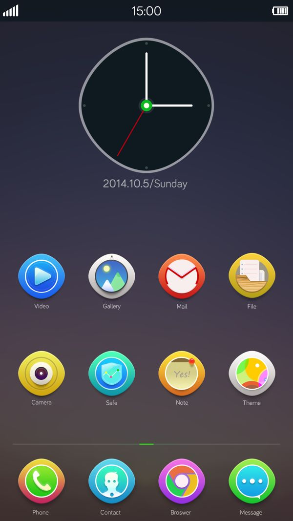 Android Theme ——Mellow on Behance