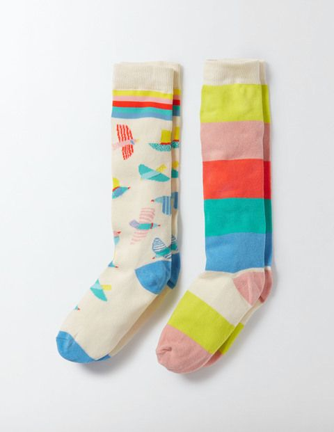 When it's not quite warm enough for bare legs, turn to our knee-high socks. Featuring a choice of fun designs, they're oh-so-sweet and they come in extra bright colours for cheering up grey days. In soft cotton, they're a lighter alternative to tights between seasons.