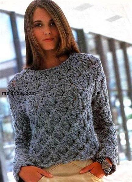 Помогите связать красивый женский свитер